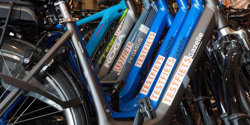 Test fietsen van Post